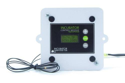 Incubator Control Module On White Surface